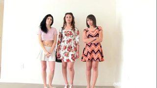 Trei tinere brunete care nu se pot satura de pula barbatului